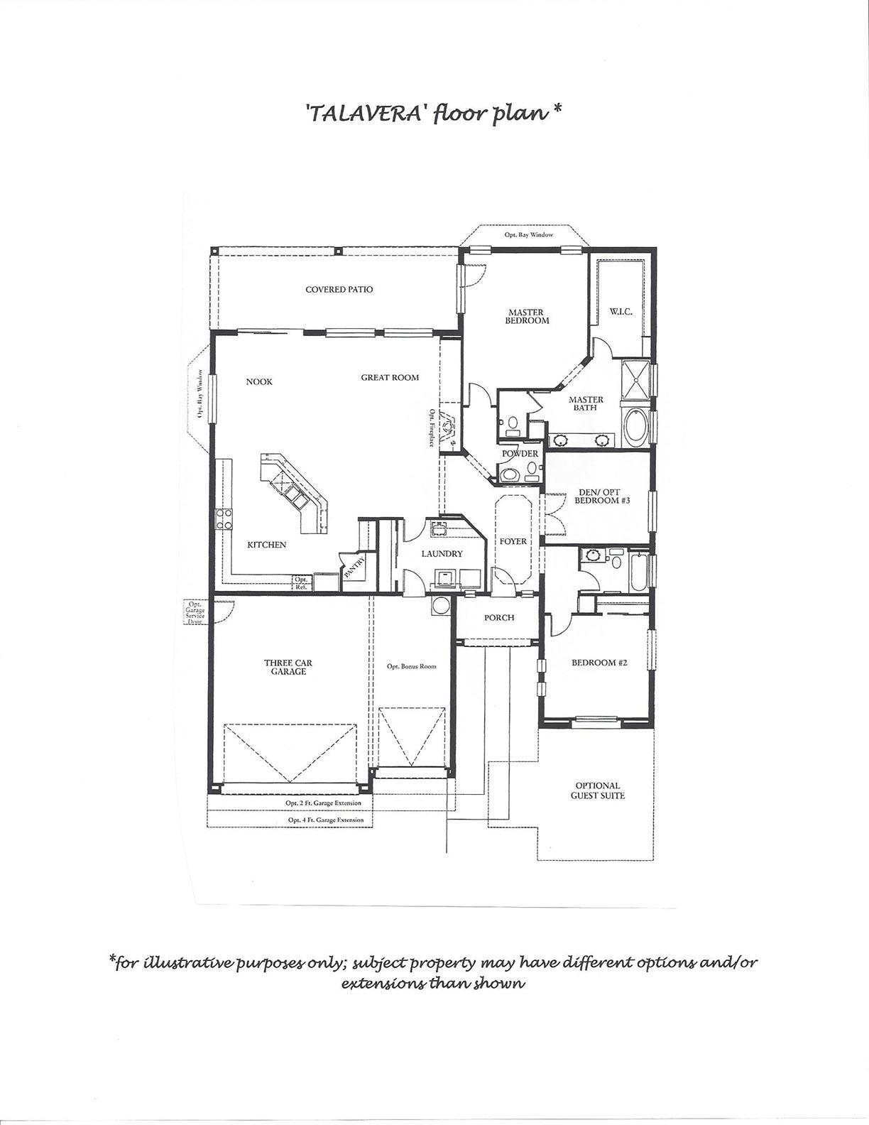 Pebblecreek Real Estate Floor Plan Talavera